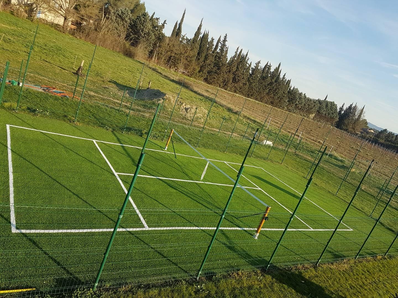 pose d'un tennis privé à Aix en Provence