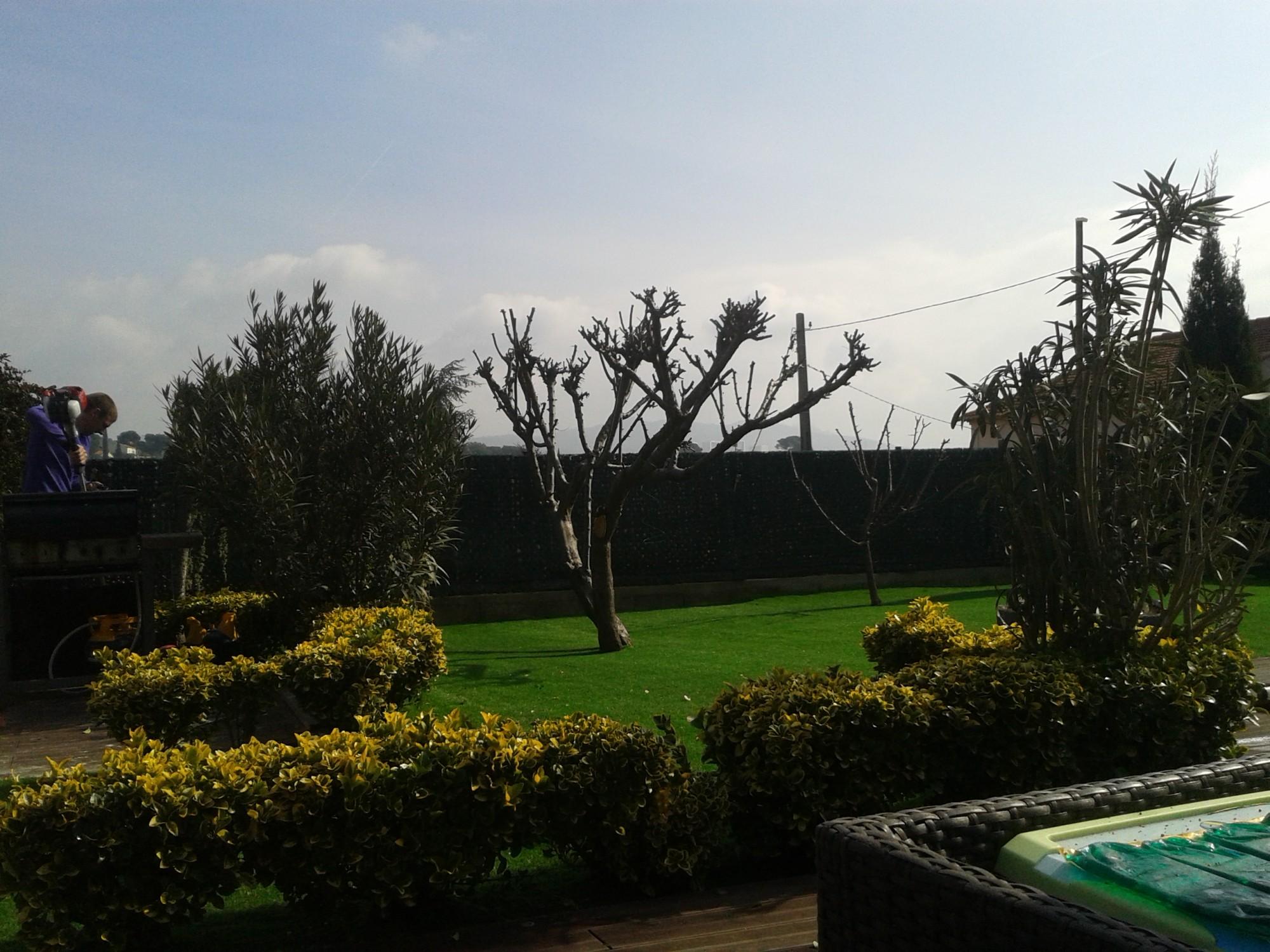 Pose d 39 un gazon synth tique dans un jardin aux pennes - Piscine municipale les pennes mirabeau ...