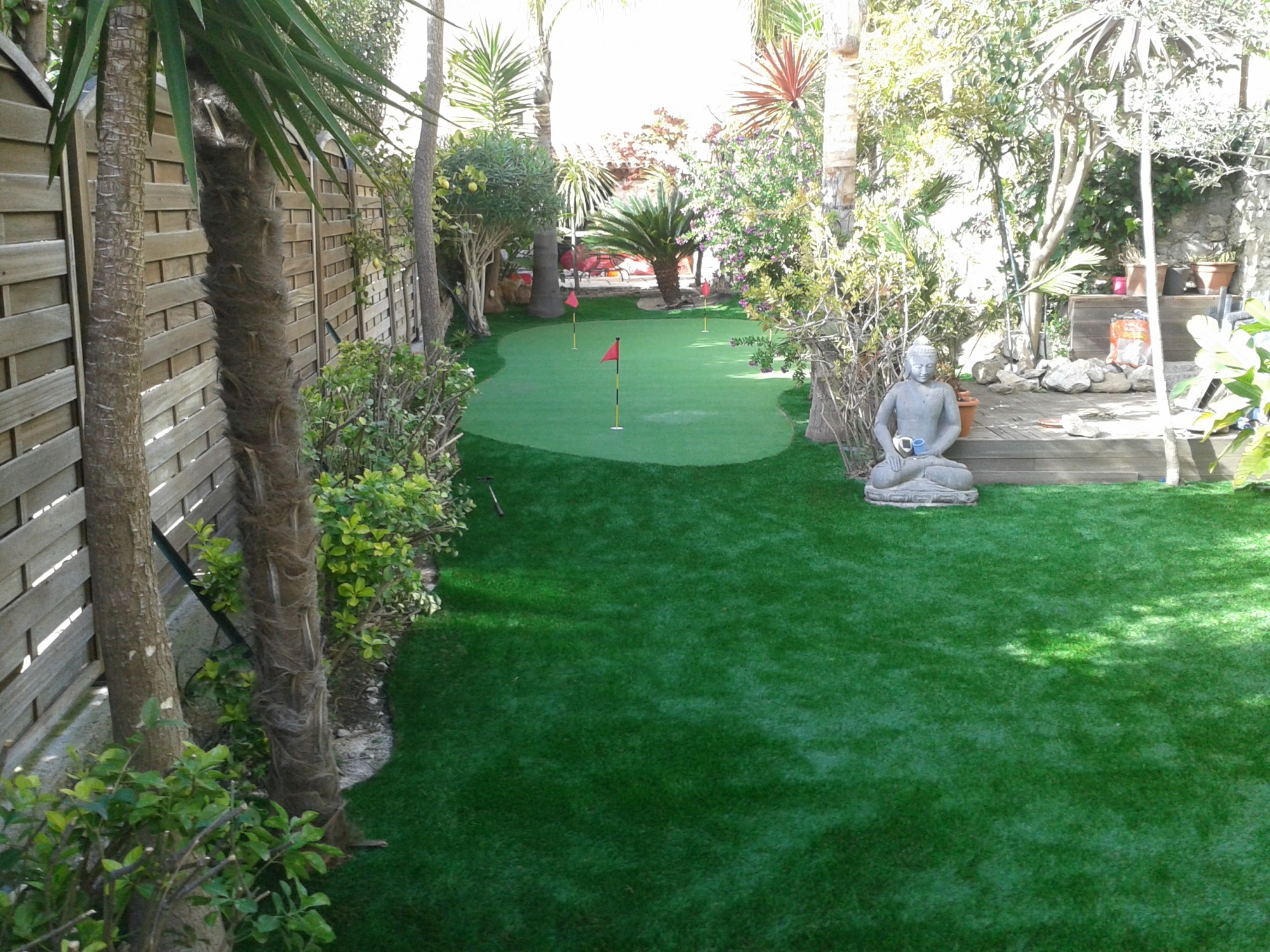 construction d 39 un green synth tique cassis golf. Black Bedroom Furniture Sets. Home Design Ideas