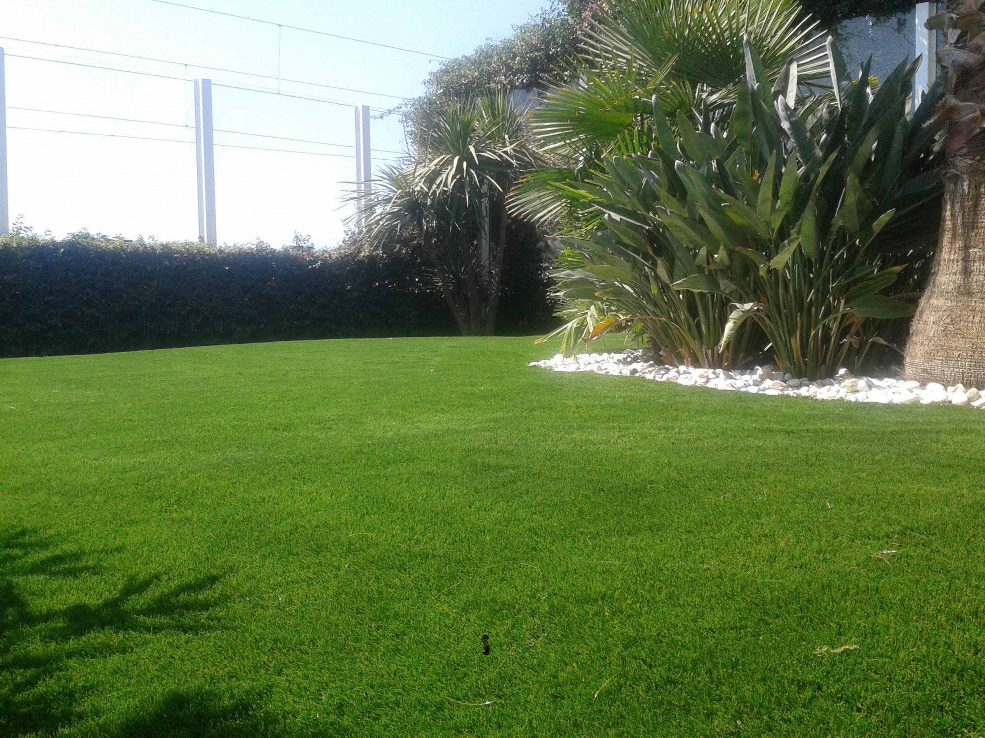 pose de 260 m de gazon synth tique jardin cannes en. Black Bedroom Furniture Sets. Home Design Ideas
