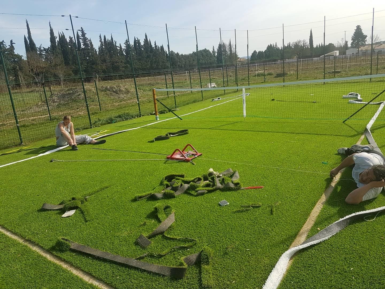 installation d'un terrain de tennis privé à Aix en Provence