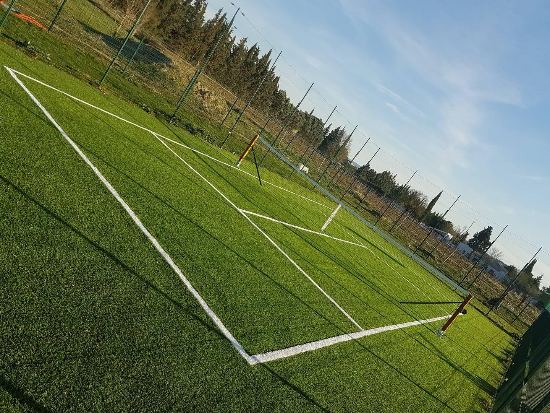 Installation d'un mini tennis privé à Aix en Provence