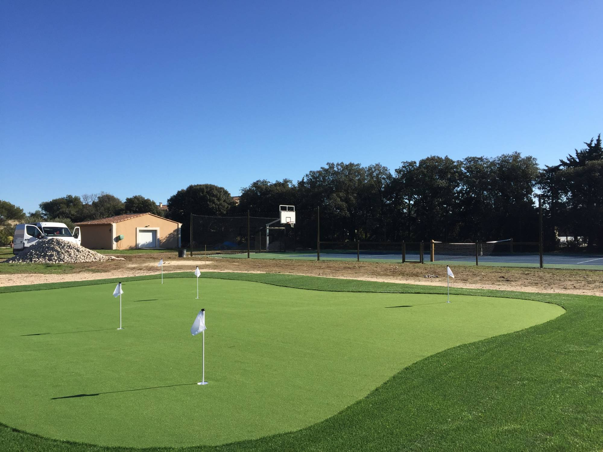 Création de green de golf synthétique en PACA