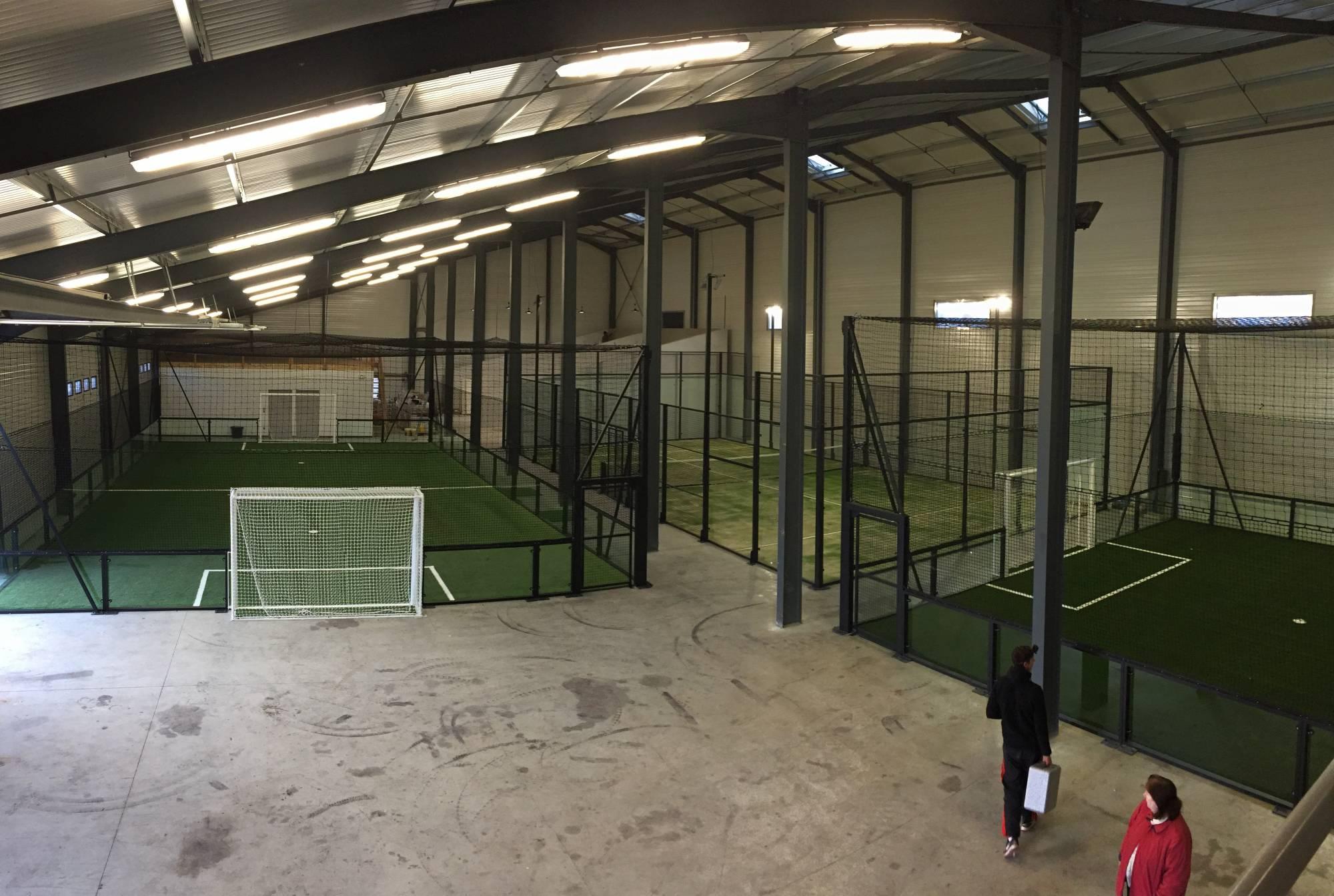 installation d'un football indoor à Cahors
