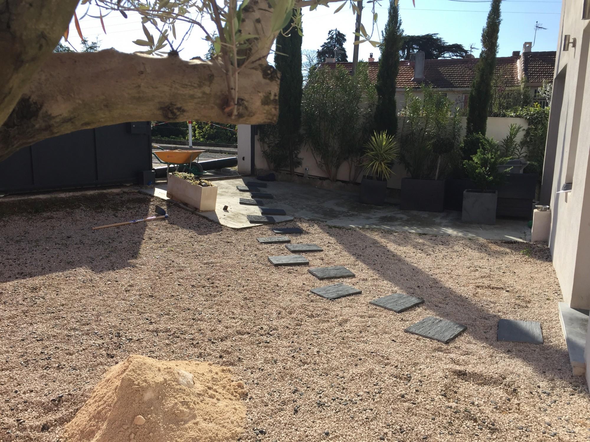 Aménagement jardin Aix en Provence