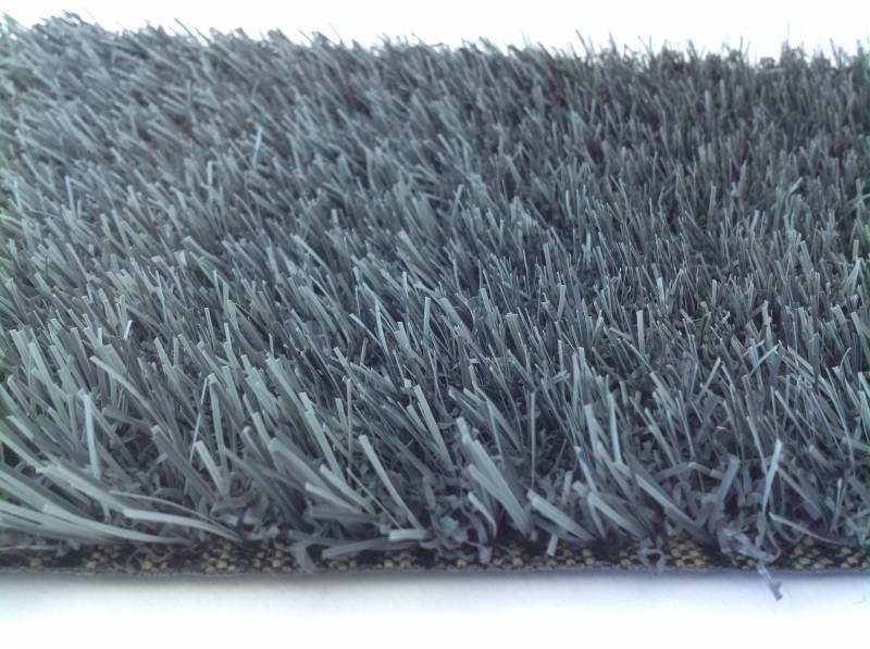 Gazon synth tique gris anthracite 20 mm gazon et pelouse synth tiques marseille univers gazons - Gazon synthetique gris ...